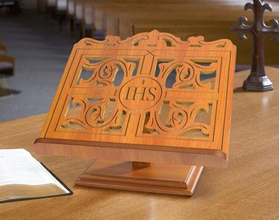 IHS Wooden Bible Stand (15 inch x 14 inch)  -