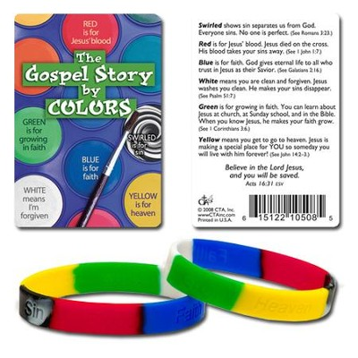 The Gospel Story by Colors Silicone Bracelet with Debossed Words  -