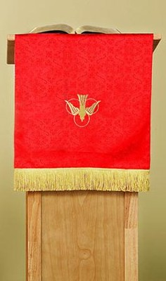 Pulpit Scarf / Dove / Chi Rho R / White  -