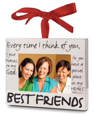 Best Friends Photo Frame Ornament  -