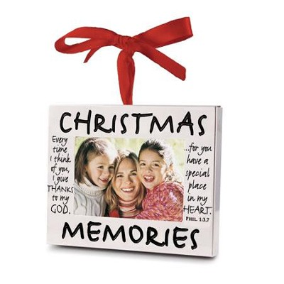 Christmas Memories, Photo Frame Ornament  -