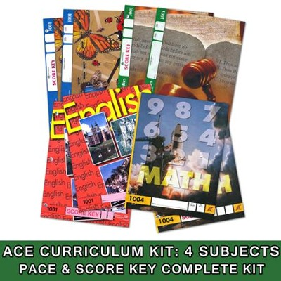 ACE 24-Week (4 Subjects), Single Student Complete PACE & Score Key Kit, Grade 1, 3rd Edition (with 4th Edition Science & Social Studies)  -