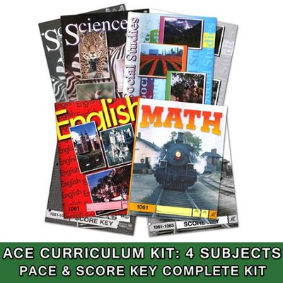 ACE Core Curriculum (4 Subjects), Single Student Complete PACE & Score Key Kit,)   -