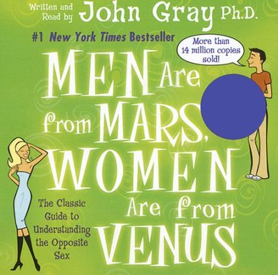Men Are From Mars, Women Are From Venus, Audio CD Abridged, 90 Minute, 2 Disc  -     Narrated By: John Gray     By: John Gray