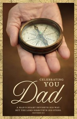 A Father's Heart (Proverbs 16:9) Father's Day Bulletins, 100  -