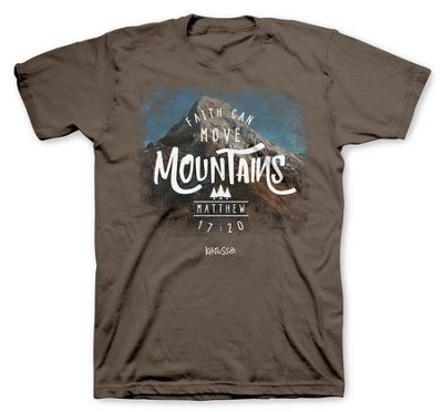 Faith Can Move Mountains Shirt, XX-Large  -