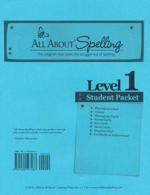 All About Spelling Level 1 Student Material Packet   -