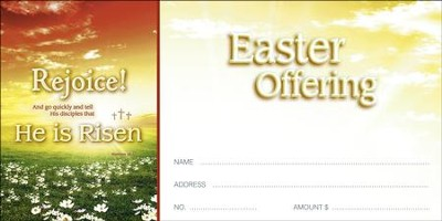 Rejoice! He is Risen (Matthew 28:7) Offering Envelopes, 100  -