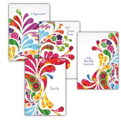 Bursting with Thanks, Box of 12 Assorted Thank You Cards  -