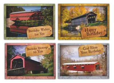 Covered by His Love, Box of 12 Assorted Birthday Cards  -