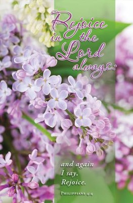 Rejoice in the Lord Always (Philippians 4:4) Bulletins, 100  -