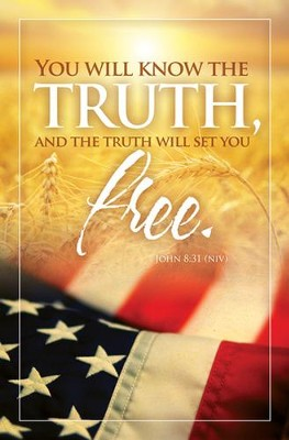 Truth Will Set You Free (John 8:31, NIV) Bulletins, 100  -