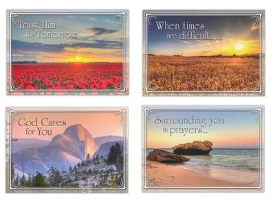 In the Master's Care, Box of 12 Assorted Encouragement Cards  -