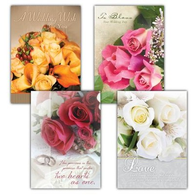 Wedded Bliss, Box of 12 Assorted Wedding Cards  -