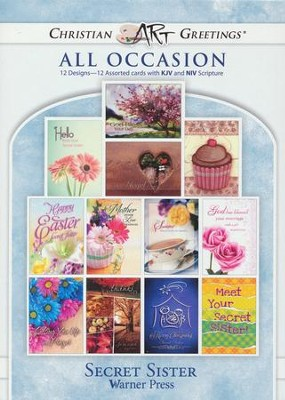 Secret Sister, Box of 12 Assorted Cards  -