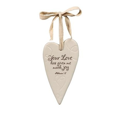 Your Love Ceramic Heart Ornament  -