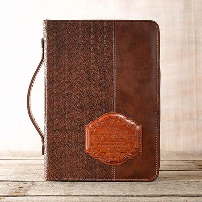 For I Know the Plans Bible Cover, Lux-Leather, Brown, Large  -