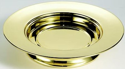 Solid Brass Stacking Bread Plate (Christian Brands)  -