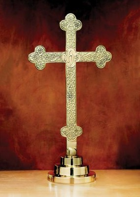 Budded Cross Filigree Altar Cross  -