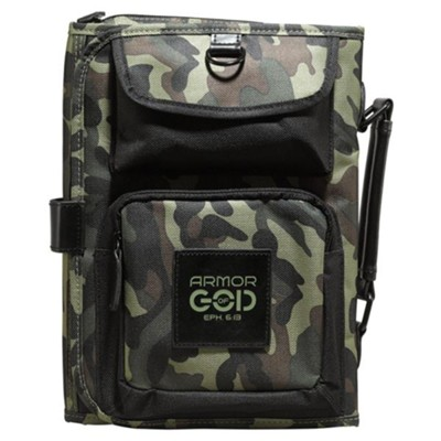 Armor Of God, Tri-Fold Bible Cover Organizer, Camo, Large  -