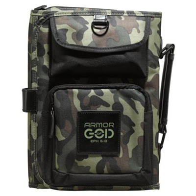 Armor Of God, Tri-Fold Bible Cover Organizer, Camo, Medium  -