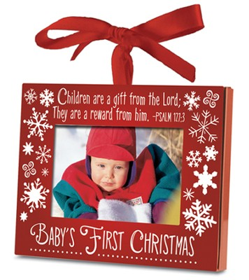Baby's First Christmas Photo Frame Ornament  -