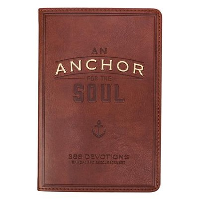 An Anchor for the Soul Devotional--imitation leather, brown  -
