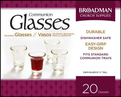 Glass Communion Cups (Box of 20)  -