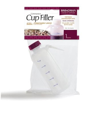 Communion Filler Bottle with Side Straw  -