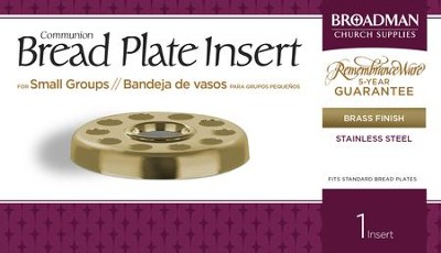 Bread Plate Insert for Small Group Communion, Brass Finish  -