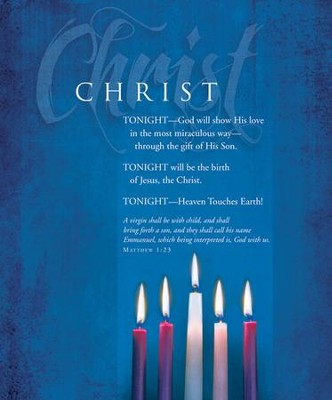 Advent, Large Bulletin, Christ (Matthew 1:23) Bulletins, 100  -