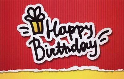 Happy Birthday Postcards (James 1:17) pack of 25  -