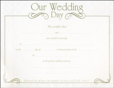 our wedding day silver foil embossed marriage certificates 6