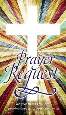 Prayer Request Pew Cards (Colossians 1:3) pack of 50  -