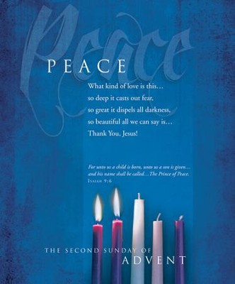 Advent, Large Bulletin, Peace (Isaiah 9:6) Bulletins, 100  -