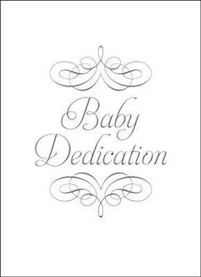 Baby Dedication with Embossed Script - Folded Certificates (1 Samuel 1:27, NIV) 6  -
