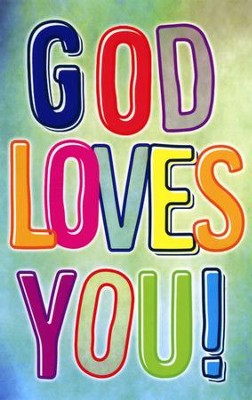 God Loves You Postcards (Psalm 100:2) pack of 25  -