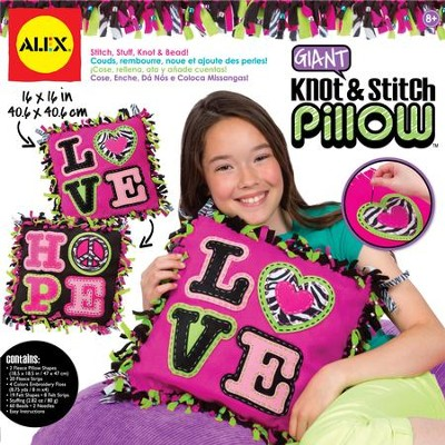 Giant Knot & Stitch Pillow   -