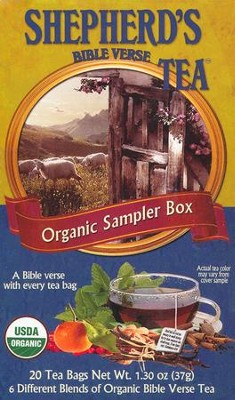 Organic Bible Verse Tea Sampler, Box of 20 Tea Bags   -