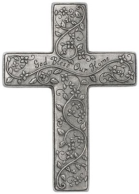 God Bless Our Home Wall Cross  -