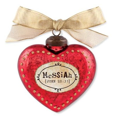 Messiah, Heart Ornament, Red  -