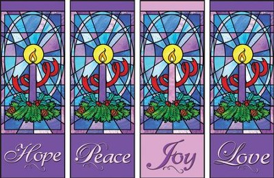 Advent Candles X-stand Banners, Set of 4  -