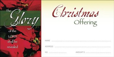 The Glory of the LORD, Offering Envelopes, 100  -