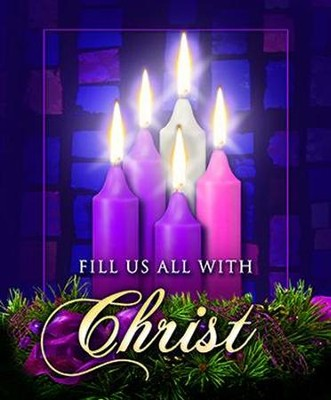 Fill Us with Christ, Large Advent Bulletins, 100  -