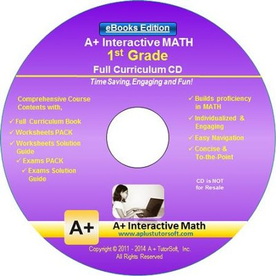A+ Interactive Math Full Curriculum Grade 1 eBooks Edition on CD-ROM  -