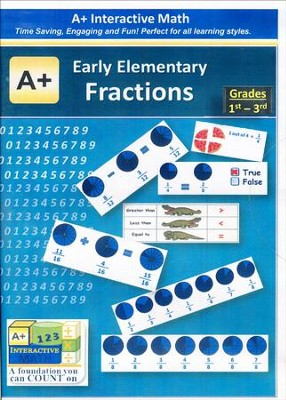 A+ Interactive Supplemental Math: Early Elementary Fractions on CD-ROM  -