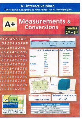A+ Interactive Supplemental Math Measurements and Conversions on CD-ROM  -