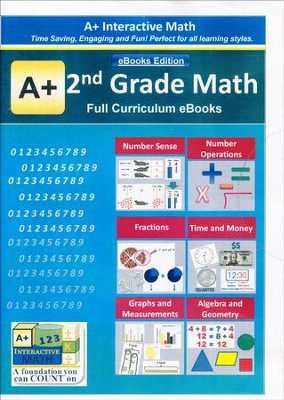 A+ Interactive Math Full Curriculum Grade 2 eBooks Edition on CD-ROM  -