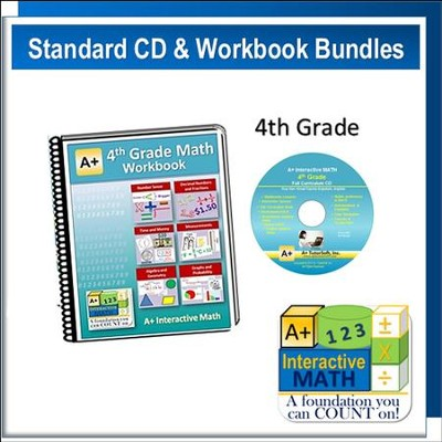 A+ Interactive Math Standard Edition CD & Workbook Bundle, Grade 4  -