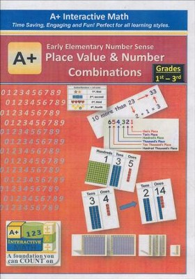 A+ Interactive Supplemental Math: Early Elementary Number Sense Place Value and Number Combinations on CD-ROM  -